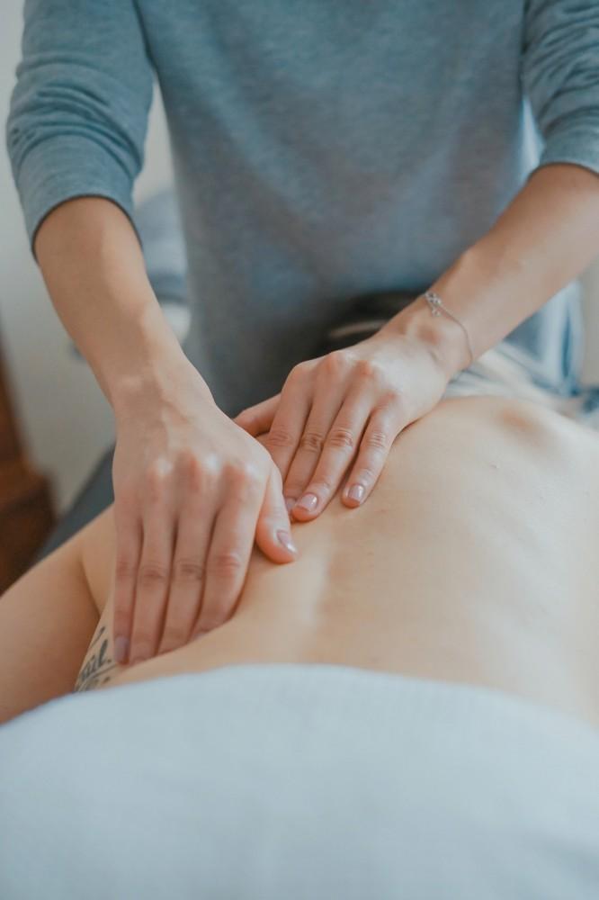 lady getting a massage