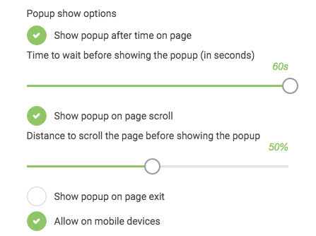 How To Create A Popup - Show Options