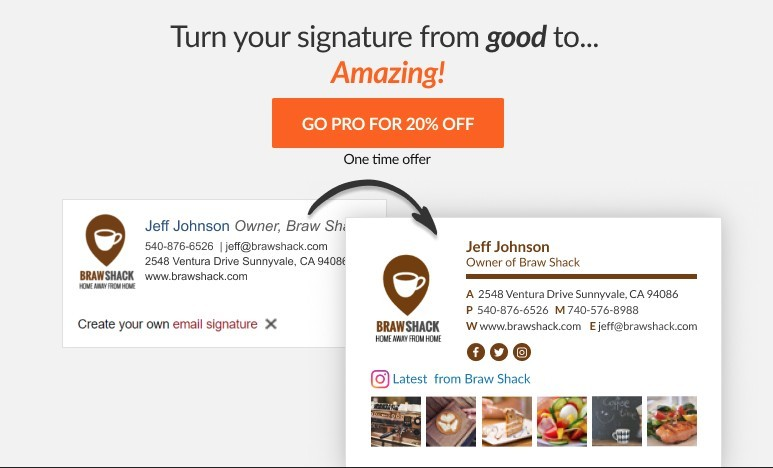 Free and paid Wisestamp email signatures compared