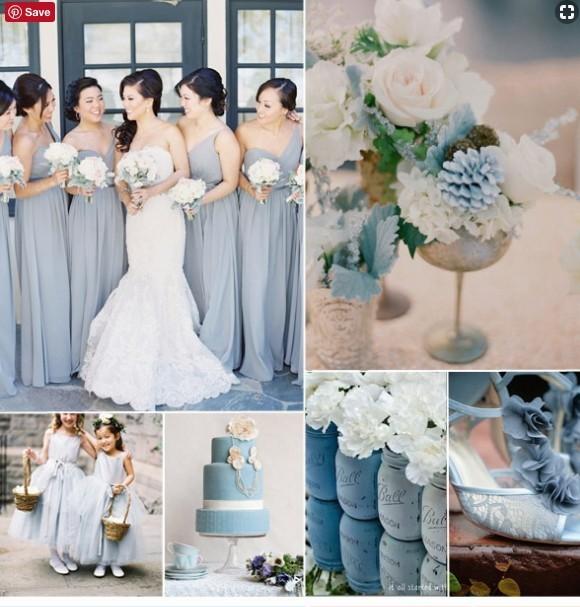 Wedding Color Ideas - Baby Blue Color Scheme