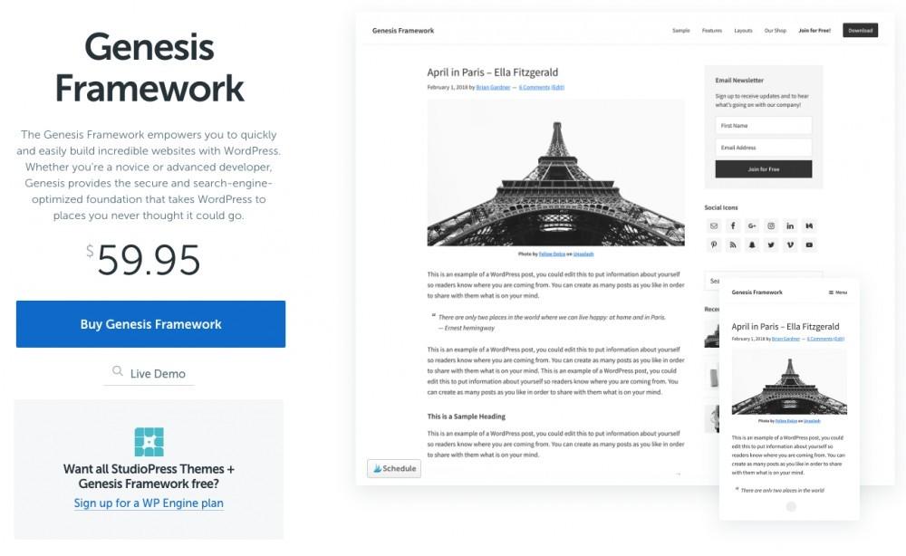Genesis framework home page