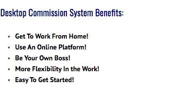 desktop commission system benefits