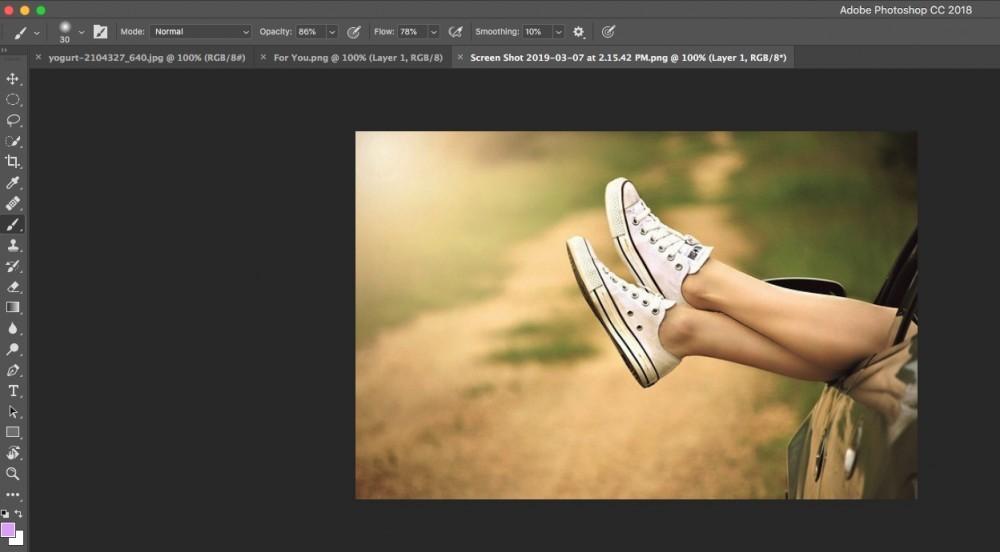 opacity tool bar in photoshop