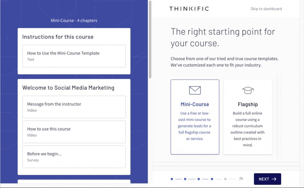 thinkific templates