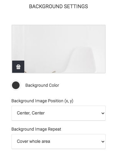 How To Create A Popup - Background Settings