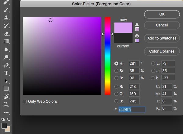 color picker in photoshop