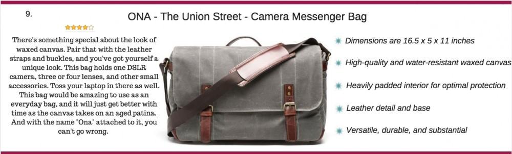ONA - the union street camera messenger bag