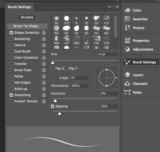 Brush Settings in Photoshop