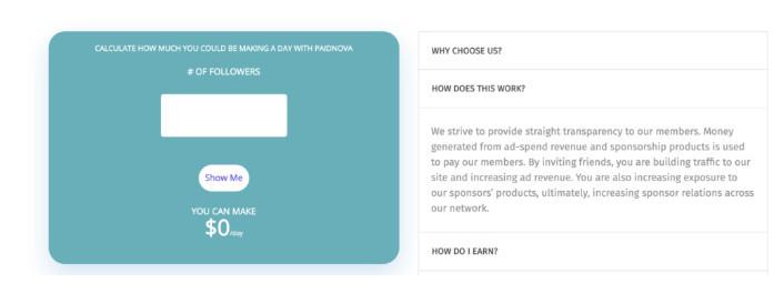 PaidNova Review - how it works screenshot