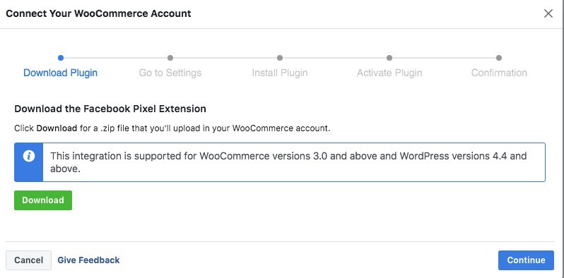 connecting to WooCommerce account
