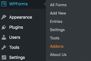 WP forms addons