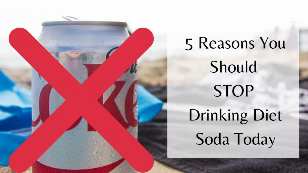 Stop Drinking Diet Soda Today - Coke Can With X Mark