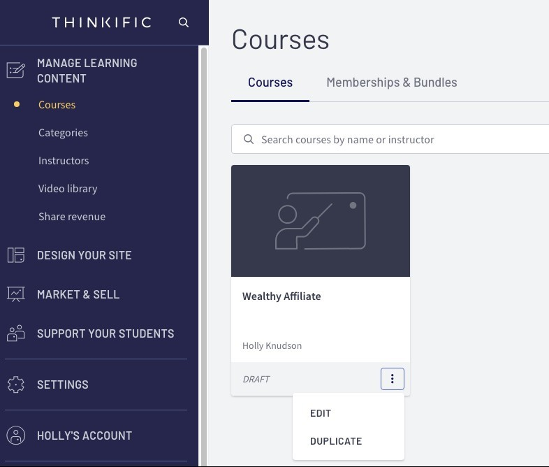creating online courses thinkific ediotr