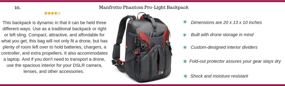 Manfrotto phantom pro-light backpack