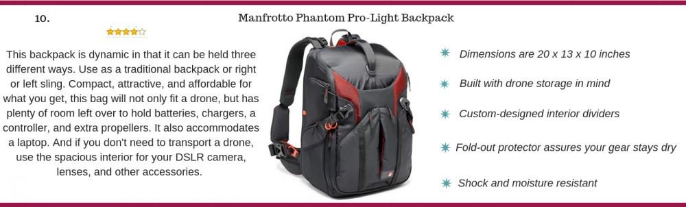 Manfrotto phantom pro-light backpack