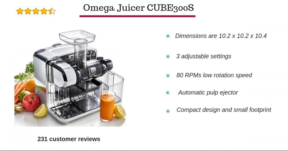 Omega juice CUBE300S specifications