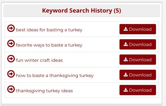 Keyword Research Tools For SEO - Keyword Search History