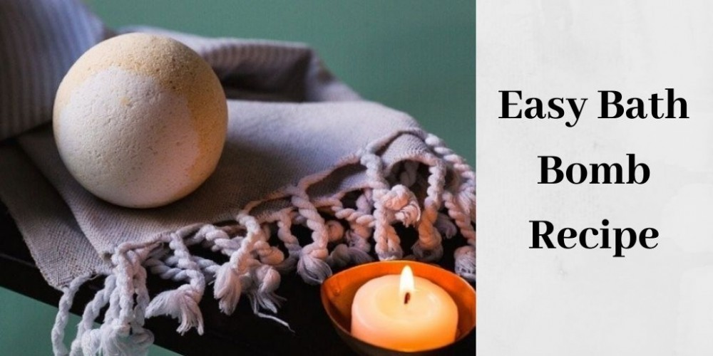 easy bath bomb recipe - bath bomb by candle