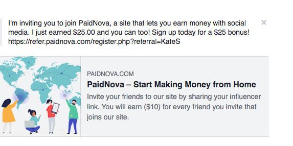 social sharing screenshot