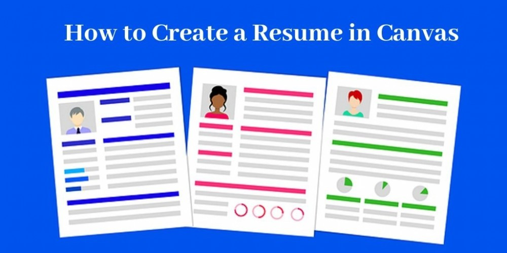three resumes in varying colors