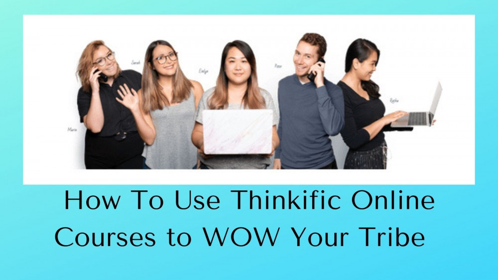 Thinkific Online Courses - 5 People with Laptops