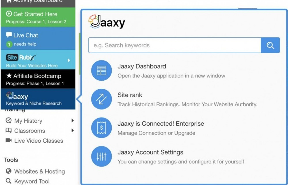 Jaaxy Gets Integrated Into The Wealthy Affiliate Membership