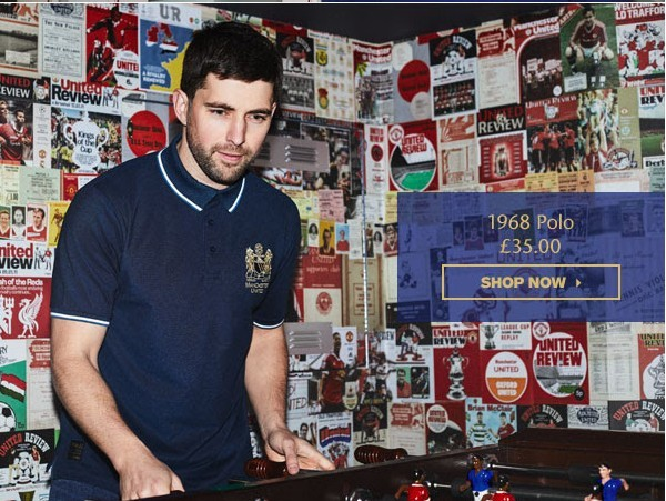 Model wearing a sample of the Polo shirt