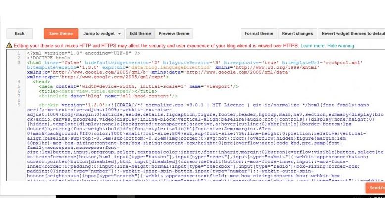 google blogger edit html