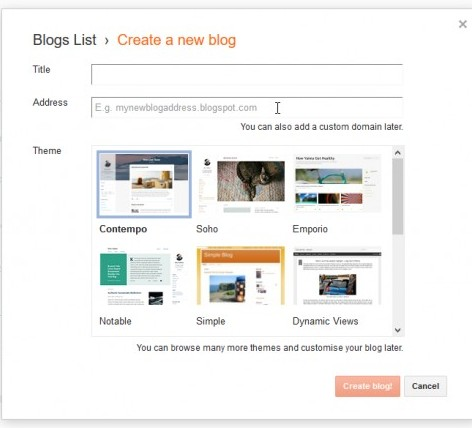 create a website with Google Blogger