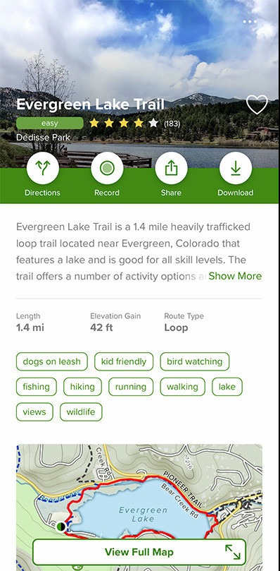 Hiking Trails in Colorado Evergreen Lake Trail