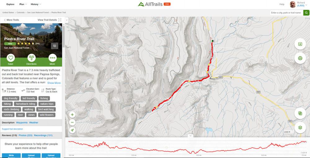AllTrails Map | Piedra River Trail
