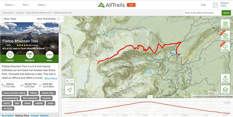 AllTrails Flattop Mountain Trail