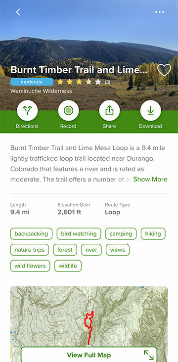 Hiking Trails in Colorado | Burnt Timber Trail