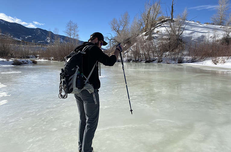 River Crossing on Ice