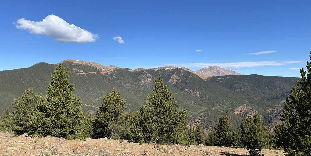 Rocky Mountains and Pikes Peak