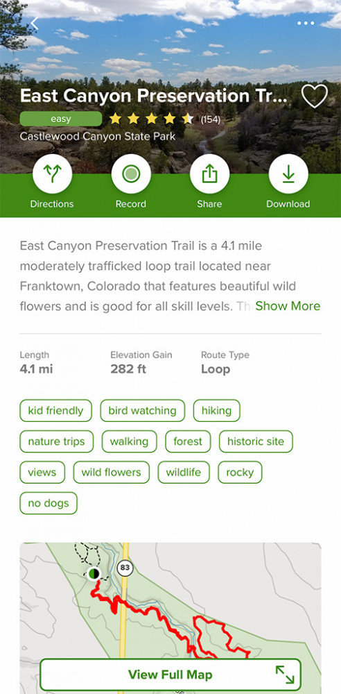 AllTrails | East Canyon Preservation Trail