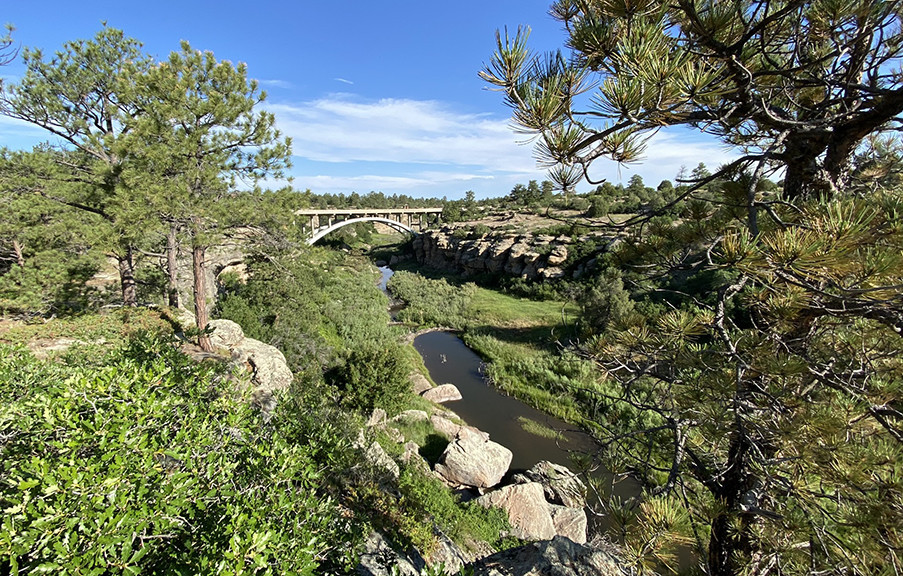 Highway 83 at the Castlewood Canyon State Park