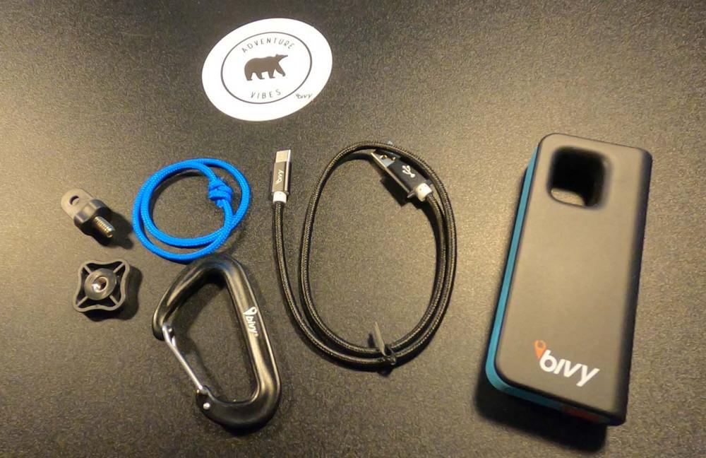 Bivy Stick Blue Individual Contents