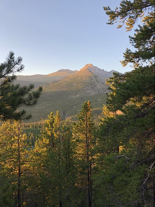 Longs Peak in the Rocky Mountain National Park