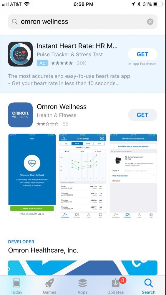 Omron Wellness App