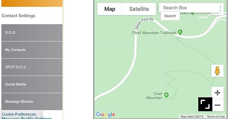 SPOT Website | Waypoint Map
