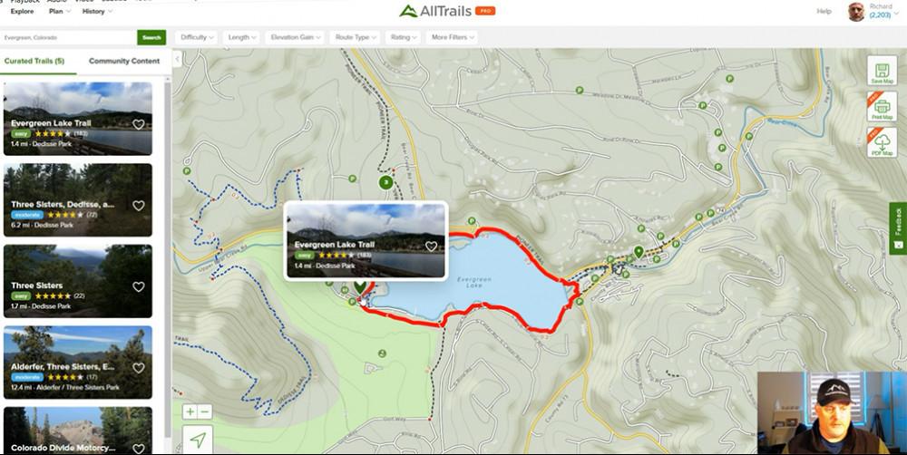 AllTrail Colorado | Evergreen Lake Trail