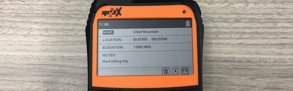 SPOT X Chief Mountain Waypoint Information
