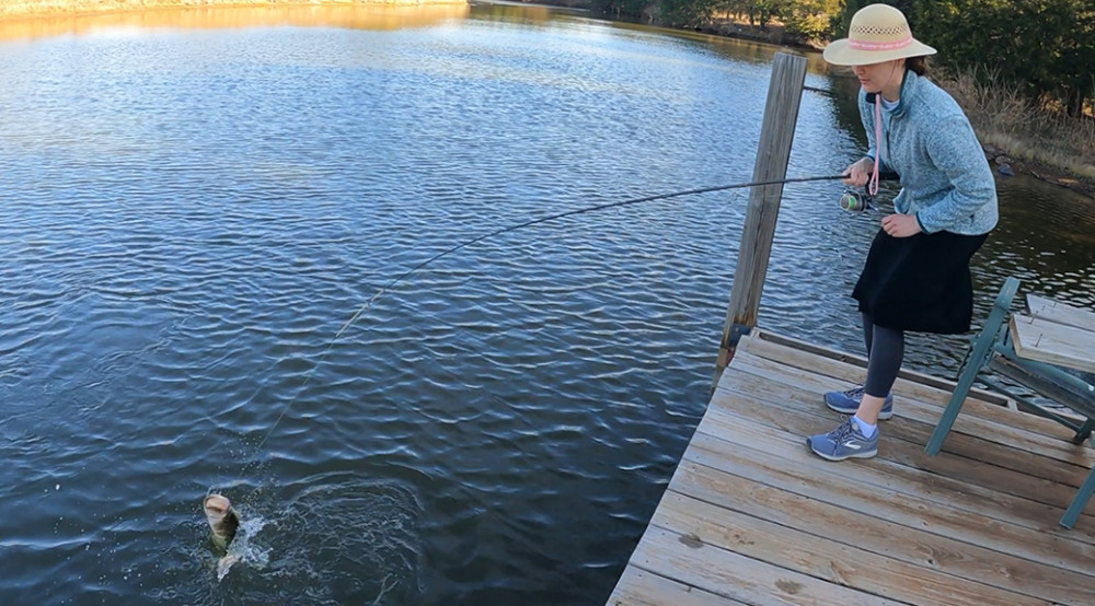 Bass Fishing with Rachael