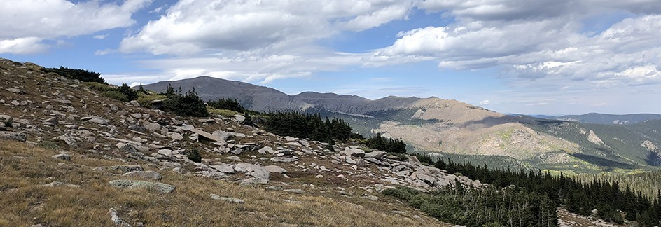 Tanglewood Trail - End of Trail Looking at Mt. Evans