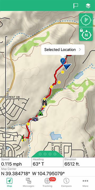 Garmin inReach Navigation New Waypoint