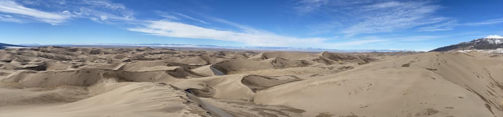 Panoramic views from the Sand Dune Peak