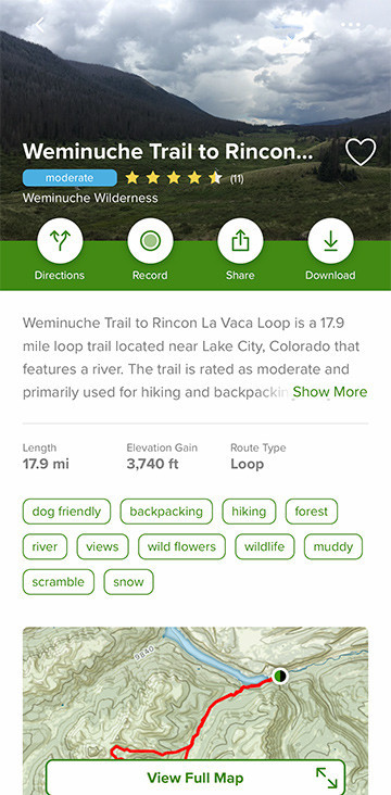 Weminuche Trail to Granite Lake