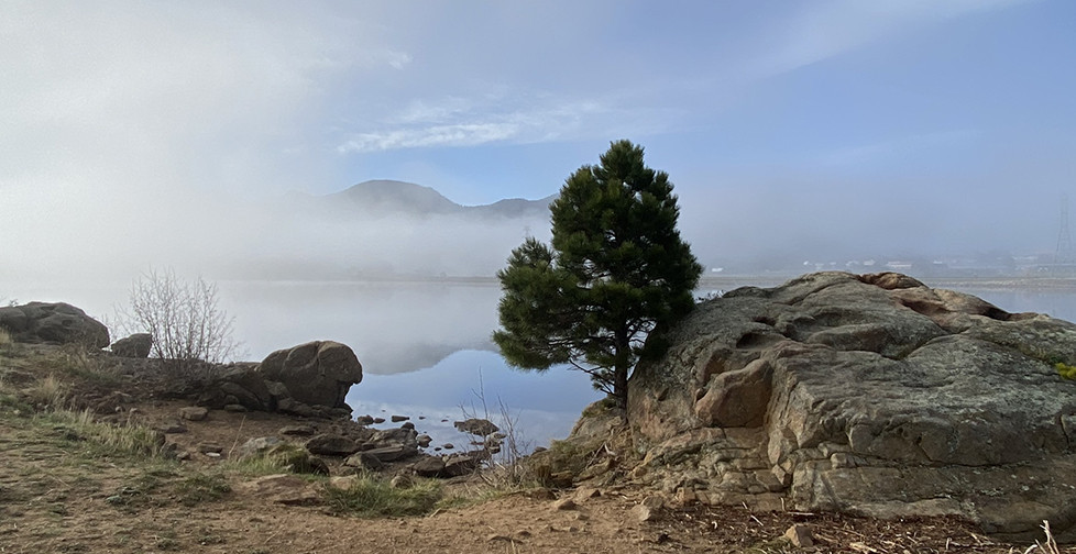 Sunrise over Lake Estes Colorado