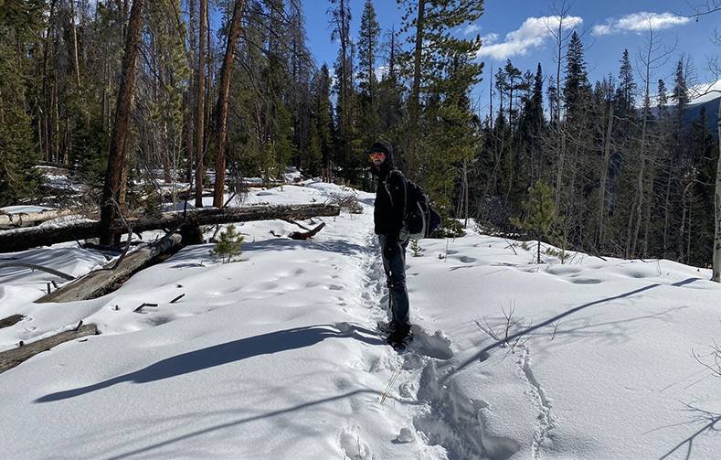 Roaring Creek Trail | Turning Around Because of No Snowshoes